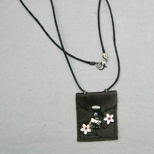 Darling Hello Kitty Small Leather Pouch Necklace